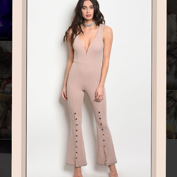 LF Pants - NWT Sleeveless fitted jumpsuit bell bottom legs